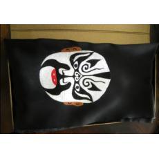 苏绣围巾脸谱款|手工绣花|真丝围巾