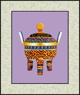 苏绣图案铜壶系列
