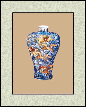 苏绣图片铜壶花瓶系列