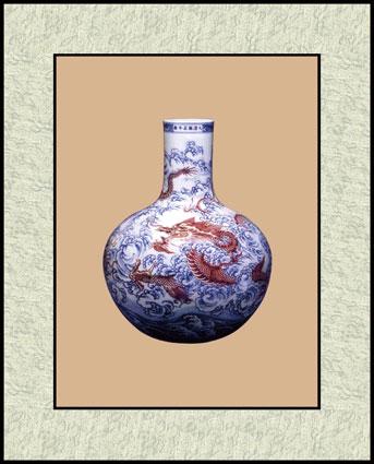 苏绣图案花瓶