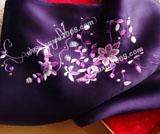 苏绣围巾茉莉花款|手工绣花|真丝围巾