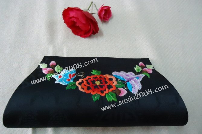 苏绣夹包蝴蝶|手工绣花宴会夹包|刺绣包|女士夹包