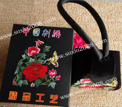 苏绣手提包玫瑰款
