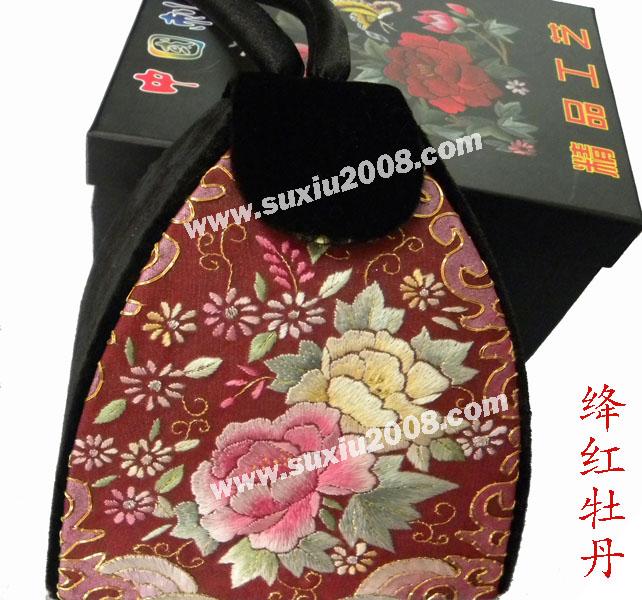 苏绣手提包牡丹