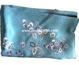 苏绣围巾丁香款|手工绣花|真丝围巾