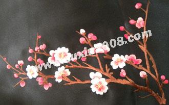苏绣披肩梅花款|手工苏绣|绣花披肩|真丝披肩|丝绸披肩