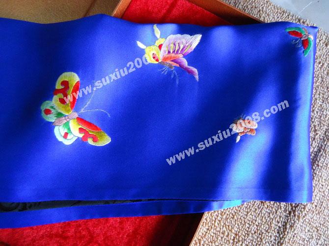苏绣围巾蝴蝶款|手工绣花|真丝围巾