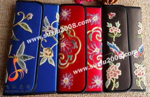 手工绣花钱包|刺绣钱包|苏绣钱包|真丝钱包