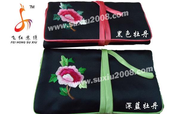 苏绣首饰绢化妆包|首饰包|绣花包