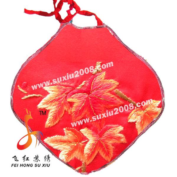 刺绣枫叶|宝宝纯棉肚兜|婴儿肚兜