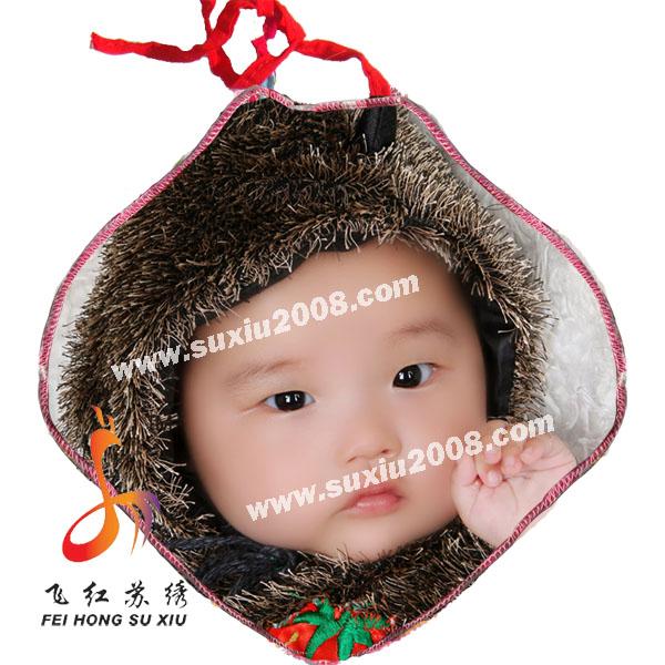 肖像刺绣|宝宝纯棉肚兜|婴儿肚兜|