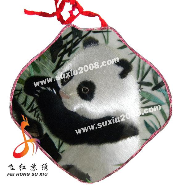 刺绣熊猫|宝宝纯棉肚兜|婴儿肚兜