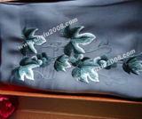 苏绣围巾爬山虎|手工绣花|真丝围巾