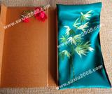 苏绣围巾竹叶款|手工绣花|真丝围巾