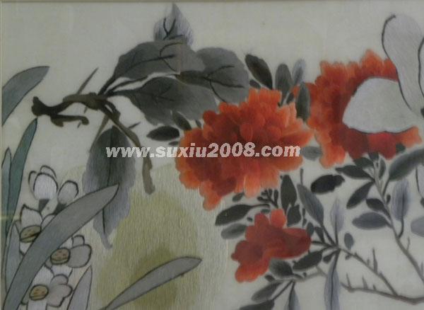 苏绣荷花水果1
