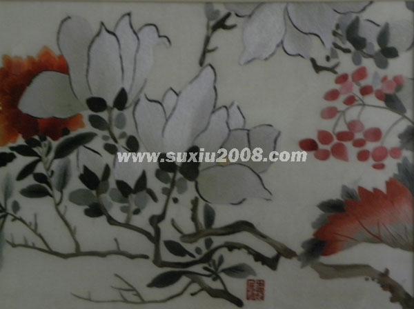 苏绣荷花水果3