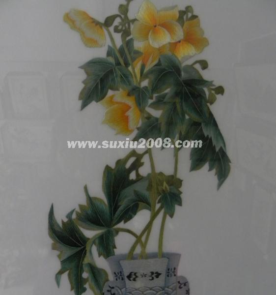 苏绣景泰蓝花瓶1