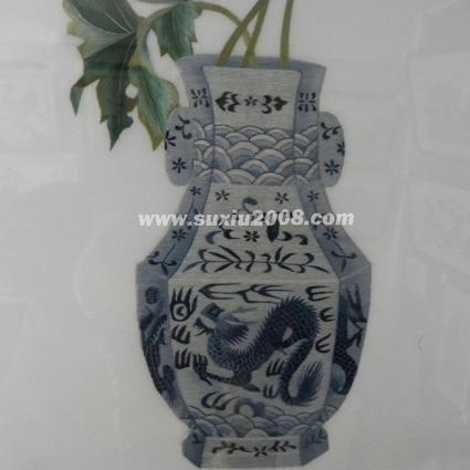 苏绣景泰蓝花瓶2