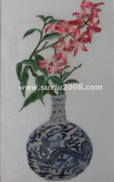 苏绣景泰蓝花瓶3