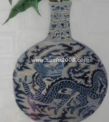 苏绣景泰蓝花瓶6