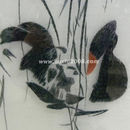 苏绣戏水鹅