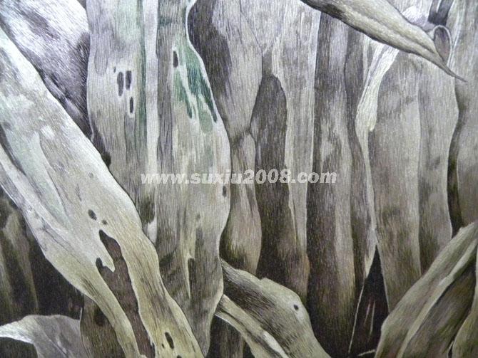 苏绣精品家乡九月-筛月叶子