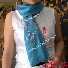 苏绣围巾丁香花|手工围巾|绣花围巾|真丝围巾|丝绸围巾