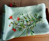 苏绣围巾牡丹花藤款|手工绣花|真丝围巾